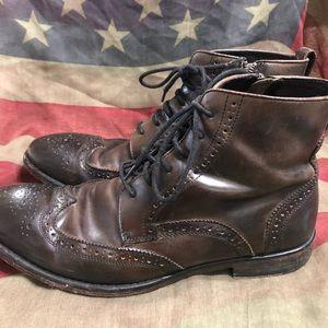 John Varvatos Shoes - John Varvatos USA Mens 10.5 leather boots